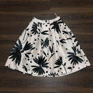 トゥービーシック(TO BE CHIC)のドゥービーシック 膝下丈のフレアスカート (ひざ丈スカート)