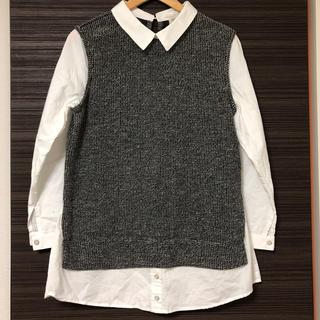 しまむら - しまむら 重ね着風シャツ 美品 Lサイズ