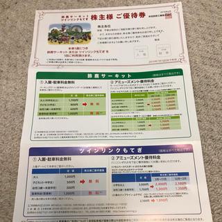 鈴鹿サーキットツインリンクもてぎ 株主優待券(遊園地/テーマパーク)