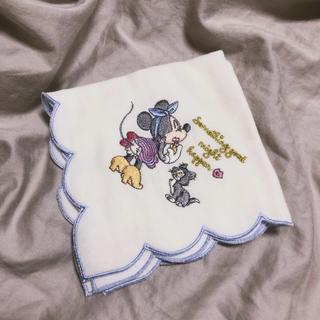 ディズニー(Disney)の新品未使用♡刺繍ミニーハンカチ(ハンカチ)