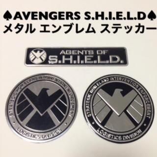 ♠︎AVENGERS S.H.I.E.L.D♠︎メタルエンブレム ステッカー3枚(車内アクセサリ)