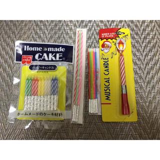 ろうそくとケーキ型(キャンドル)