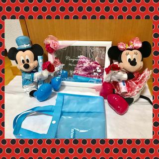 ディズニー(Disney)の電報♡ミッキーミニーちゃん♡ディズニーDisneyMickeyMinnie人形(ウェルカムボード)