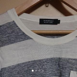 バーバリー(BURBERRY)の【正規品】 BURBERRY ロンT アイボリー×グレー(Tシャツ/カットソー(七分/長袖))