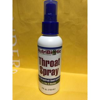 喉スプレー オーガニック マウスウォッシュ 風邪 Throat Spray 新品(マウスウォッシュ/スプレー)