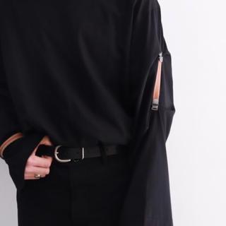 サンシー(SUNSEA)のsunsea 19ss HIMURON-T Black(Tシャツ/カットソー(七分/長袖))