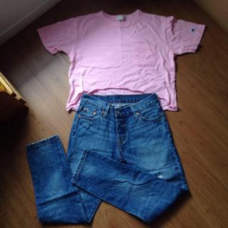 ゴーマルイチ(501)のリーバイス 501 CT チャンピオン Tシャツ セット(セット/コーデ)