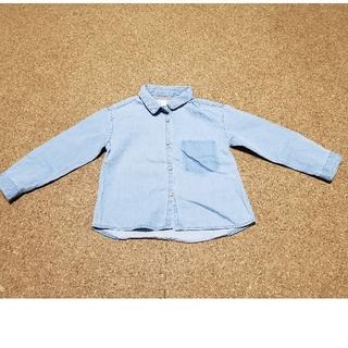 ザラ(ZARA)の均一セール(27)ZARA baby 薄手 デニム調 長袖シャツ(シャツ/カットソー)