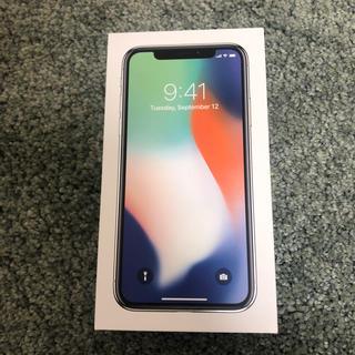 iPhone x 64gb SIMフリー シルバー(スマートフォン本体)
