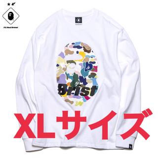 アベイシングエイプ(A BATHING APE)の【XL】BAPE x FCRB L/S APE HEAD TEE(Tシャツ/カットソー(七分/長袖))