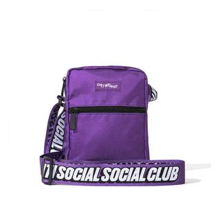アンチ(ANTI)のantisocialsocialclab ショルダーバッグ 紫(ショルダーバッグ)