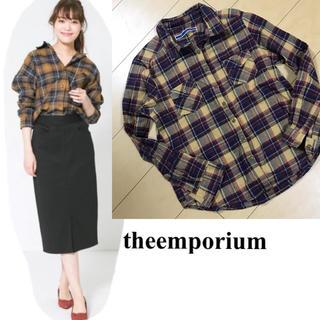 ジエンポリアム(THE EMPORIUM)のtheemporium チェックシャツ(シャツ/ブラウス(半袖/袖なし))