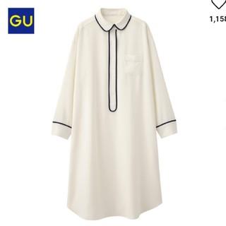 ジーユー(GU)のラウンジシャツワンピース XL(ルームウェア)