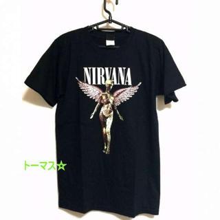 〇ニルヴァーナ 半袖 Tシャツ IN UTERO ニルバーナ XL 黒 メンズ(Tシャツ/カットソー(半袖/袖なし))
