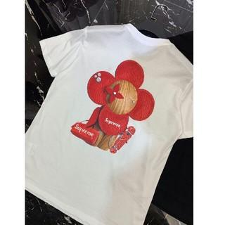 春夏新品超人気 19ss Supreme Tシャツ  男女兼用  白 XL  (Tシャツ/カットソー(半袖/袖なし))