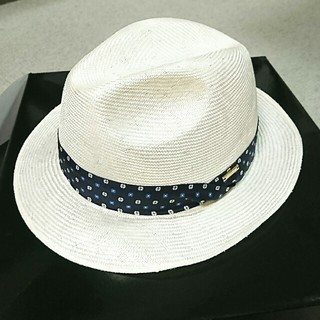 ボルサリーノ(Borsalino)の麦わら帽子 Borsalino ボルサリーノ 中折れハット 60  ホワイト(ハット)