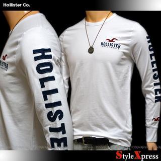ホリスター(Hollister)の新品 ホリスター 白 S M アップリケ 袖ロゴ ロンT Hollister(Tシャツ/カットソー(七分/長袖))