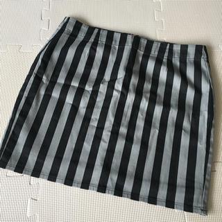 ジーユー(GU)のGU ストライプ スカート(ミニスカート)