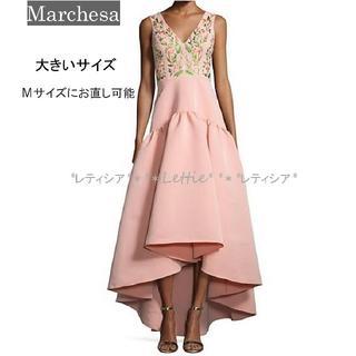 マルケッサ Marchesa☆華やかピンク♡ロングドレス☆ウエディングドレス(ウェディングドレス)