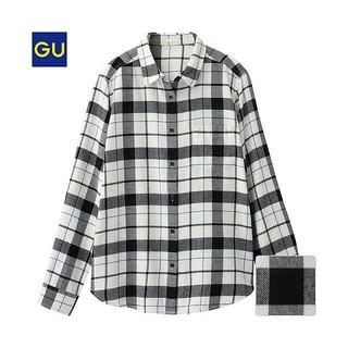 ジーユー(GU)の GU フランネルチェックシャツ(シャツ/ブラウス(長袖/七分))