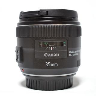 Canon - 【美品】Canon EF35mm F2 IS USM  フード、箱/ポーチ有り