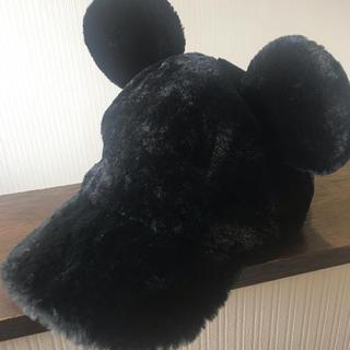 Disney - ディズニーリゾート ミッキーもこもこキャップ 黒