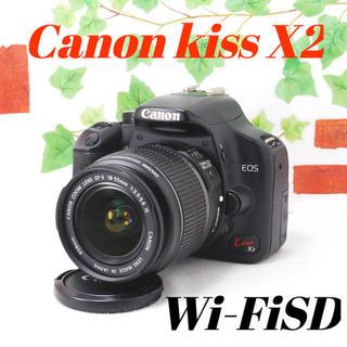Canon - ❤️スマホに送れる❤️予備バッテリー付き❤️Canon kiss X2
