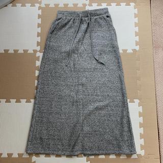 ジーユー(GU)のスウェット スカート(ロングスカート)