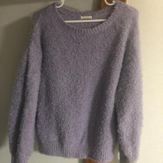 ジーユー(GU)のGU 紫 シャギーニット(ニット/セーター)