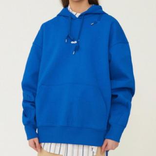 メゾンキツネ(MAISON KITSUNE')のadererror パーカー 青 Ade hoodie Z-Blue A1(パーカー)