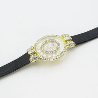 ショパール(Chopard)のショパール ハッピーダイヤモンド リボン 4097/1 全面ダイヤ Q K18(腕時計)
