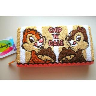 ディズニー(Disney)の新品♥チップ&デール 長財布 ふわふわ ディズニー ファスナー もこもこ(財布)