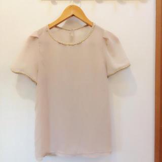 ジーユー(GU)のジーユー*シースルートップス(シャツ/ブラウス(半袖/袖なし))