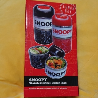 SNOOPY - SNOOPY   stainless  steel  ランチ ボックス  赤
