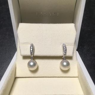 タサキ(TASAKI)の【専用】Tasakiパールイヤリング9.5mmダイヤ付き(イヤリング)