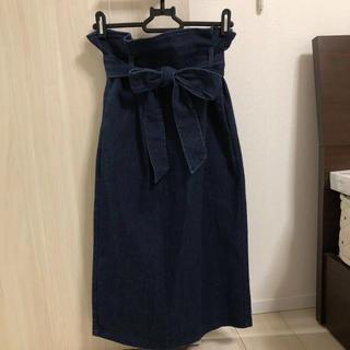 しまむら - pumpkin デニムタイトスカート