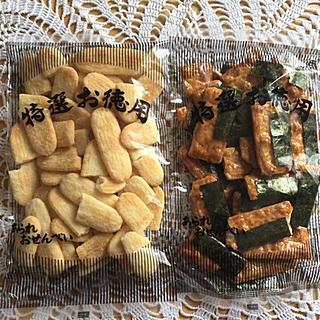 カメダセイカ(亀田製菓)の割れせん③*にこやか&うるちせんのり付き(菓子/デザート)