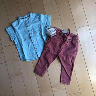 ザラ(ZARA)の【新品タグ付き】ZARA baby シャツ&ズボン 80(シャツ/カットソー)