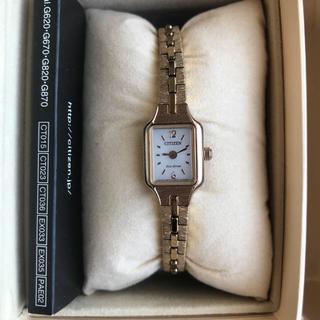 シチズン(CITIZEN)の■美品新品同様■ シチズンkii キー 腕時計 エコドライブ ピンクゴールド(腕時計)