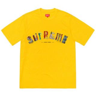 Supreme - (L) Supreme 19SS City Arc Tee Yellow