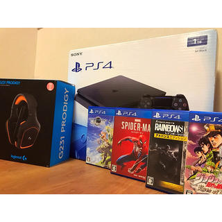 PlayStation4 - 【保証付/1TB‼️】PS4 ソフト4本 ゲーミングヘッドホン セット‼️