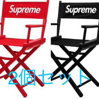 Supreme - supreme Director's Chair red black セット