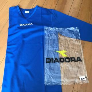 ディアドラ(DIADORA)のDIADORA 長T(Mサイズ) ブルー(ウェア)