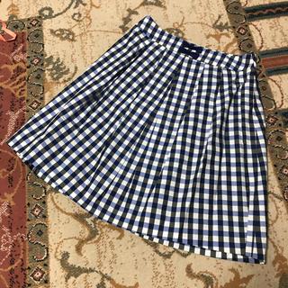 ギャラリービスコンティ(GALLERY VISCONTI)のギャラリーヴィスコンティ チェック スカート リボン 新品(ひざ丈スカート)