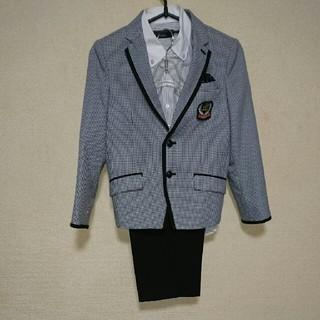 f48a1fc589cbd ミチコロンドン(MICHIKO LONDON)の130男の子 スーツ 黒 ミチコロンドン おしゃれロゴ 千鳥. ドレス フォーマル