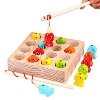 【バカ売れ】さかなつりゲーム 木のおもちゃ