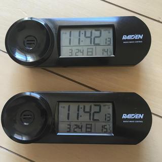 セイコー(SEIKO)のSEIKO CLOCK RAIDEN デジタル電波目まし時計(置時計)