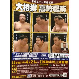 大相撲 高崎場所 チケット 4月21日(相撲/武道)