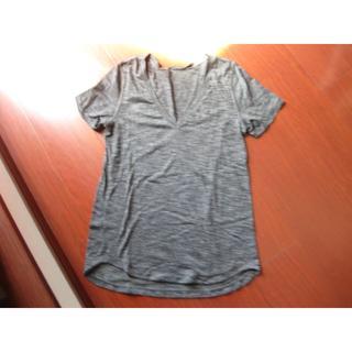 ルルレモン(lululemon)のルルレモン・グレーTシャツ・半袖・6・中古(Tシャツ(半袖/袖なし))