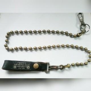 アンダーカバー(UNDERCOVER)のUNDERCOVER アンダーカバー レザー 真鍮ウォレットチェーン ビンテージ(ウォレットチェーン)